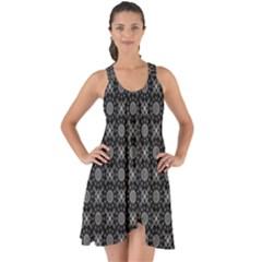 Kaleidoscope Seamless Pattern Show Some Back Chiffon Dress