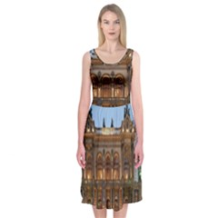 Municipal Theatre Of Sao Paulo Brazil Midi Sleeveless Dress
