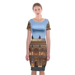 Municipal Theatre Of Sao Paulo Brazil Classic Short Sleeve Midi Dress