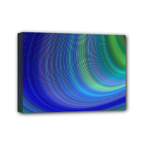 Space Design Abstract Sky Storm Mini Canvas 7  X 5