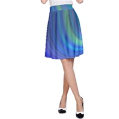 Space Design Abstract Sky Storm A Line Skirt