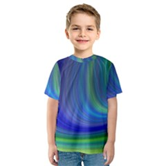 Space Design Abstract Sky Storm Kids  Sport Mesh Tee
