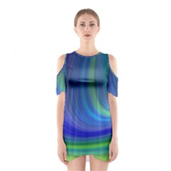 Space Design Abstract Sky Storm Shoulder Cutout One Piece