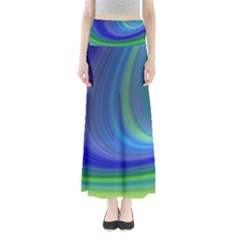 Space Design Abstract Sky Storm Full Length Maxi Skirt