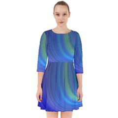 Space Design Abstract Sky Storm Smock Dress