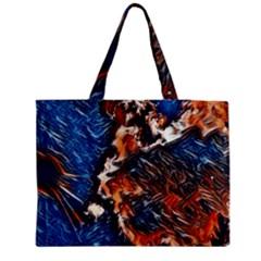 Wow Art Brave Vintage Style Zipper Medium Tote Bag by Sapixe