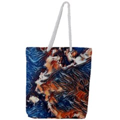 Wow Art Brave Vintage Style Full Print Rope Handle Tote (large)