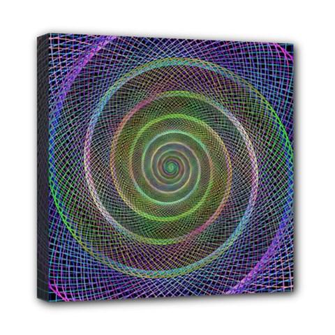 Spiral Fractal Digital Modern Mini Canvas 8  X 8  by Sapixe