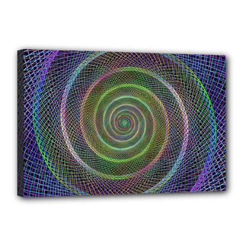 Spiral Fractal Digital Modern Canvas 18  X 12