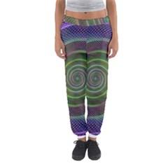 Spiral Fractal Digital Modern Women s Jogger Sweatpants