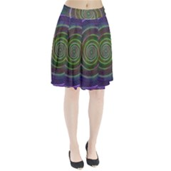 Spiral Fractal Digital Modern Pleated Skirt