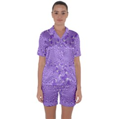 Wallpaper Mandelbrot Desktop Art Satin Short Sleeve Pyjamas Set