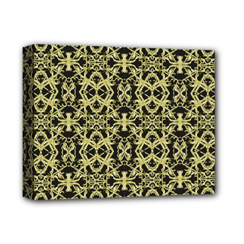 Golden Ornate Intricate Pattern Deluxe Canvas 14  X 11