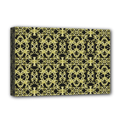 Golden Ornate Intricate Pattern Deluxe Canvas 18  X 12