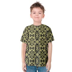 Golden Ornate Intricate Pattern Kids  Cotton Tee