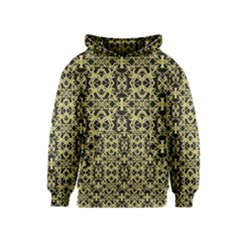 Golden Ornate Intricate Pattern Kids  Pullover Hoodie