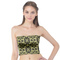 Golden Ornate Intricate Pattern Tube Top