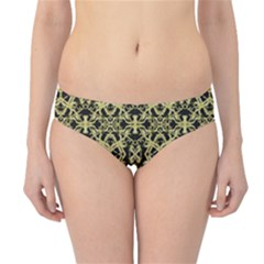Golden Ornate Intricate Pattern Hipster Bikini Bottoms