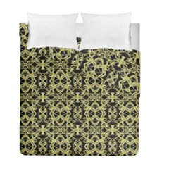 Golden Ornate Intricate Pattern Duvet Cover Double Side (full/ Double Size)