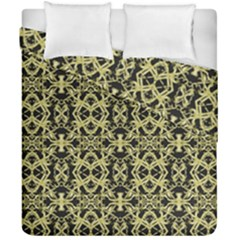 Golden Ornate Intricate Pattern Duvet Cover Double Side (california King Size)