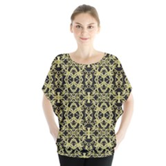 Golden Ornate Intricate Pattern Blouse