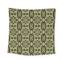 Golden Ornate Intricate Pattern Square Tapestry (small)