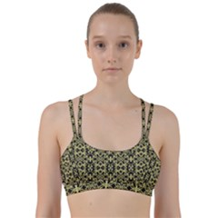 Golden Ornate Intricate Pattern Line Them Up Sports Bra