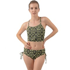 Golden Ornate Intricate Pattern Mini Tank Bikini Set