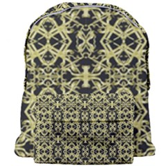 Golden Ornate Intricate Pattern Giant Full Print Backpack
