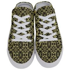 Golden Ornate Intricate Pattern Half Slippers