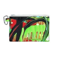 Quiet Place Canvas Cosmetic Bag (medium) by bestdesignintheworld