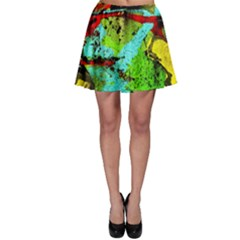 Yellow Dolphins   Blue Lagoon 6 Skater Skirt