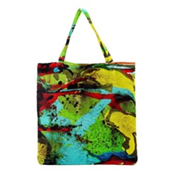 Yellow Dolphins   Blue Lagoon 6 Grocery Tote Bag
