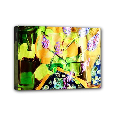 Lilac On A Counter Top 1 Mini Canvas 7  X 5