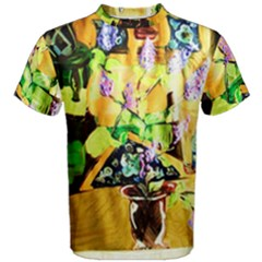 Lilac On A Counter Top 1 Men s Cotton Tee