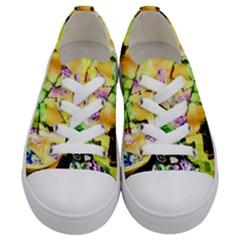 Lilac On A Counter Top 1 Kids  Low Top Canvas Sneakers