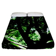 Hot Day In Dallas 28 Fitted Sheet (california King Size)