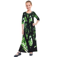 Hot Day In Dallas 28 Kids  Quarter Sleeve Maxi Dress