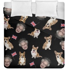 Queen Elizabeth s Corgis Pattern Duvet Cover Double Side (king Size)