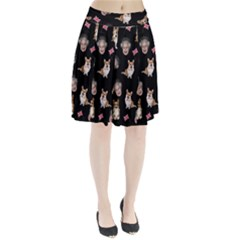 Queen Elizabeth s Corgis Pattern Pleated Skirt