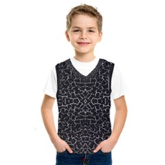 Cracked Dark Texture Pattern Kids  Sportswear
