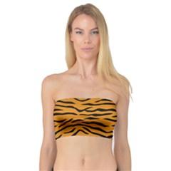 Orange And Black Tiger Stripes Bandeau Top