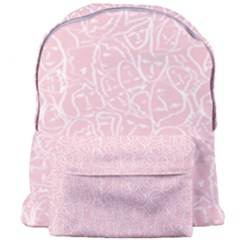 Elios Shirt Faces In White Outlines On Pale Pink Cmbyn Giant Full Print Backpack