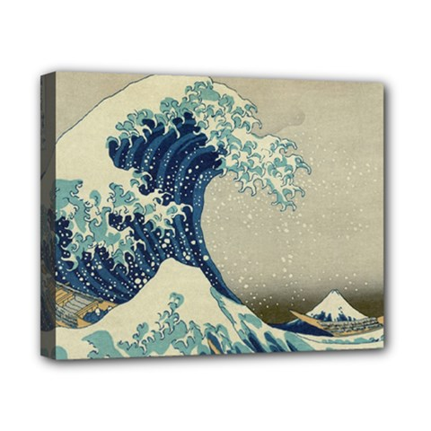 The Classic Japanese Great Wave Off Kanagawa By Hokusai Canvas 10  X 8
