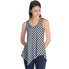 Black And White Checkerboard Weimaraner Sleeveless Tunic