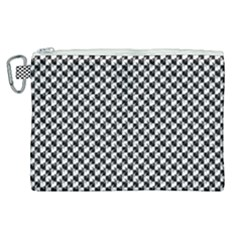 Black And White Checkerboard Weimaraner Canvas Cosmetic Bag (xl) by PodArtist