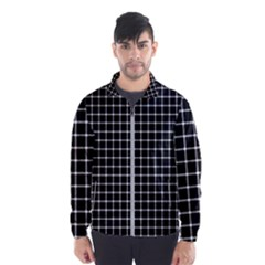 Black And White Optical Illusion Dots And Lines Windbreaker (men)