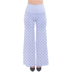 Alice Blue Quatrefoil In An English Country Garden So Vintage Palazzo Pants by PodArtist