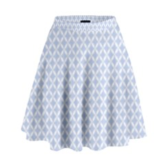 Alice Blue Quatrefoil In An English Country Garden High Waist Skirt by PodArtist