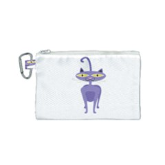 Cat Clipart Animal Cartoon Pet Canvas Cosmetic Bag (small) by Sapixe